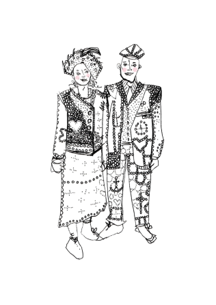 Pearly King and Queen, East London