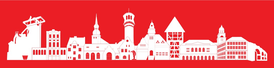 skyline white on red